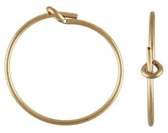 70x15.0mm Wire Beading Hoop,  14k gold filled. Made in USA. #4011802