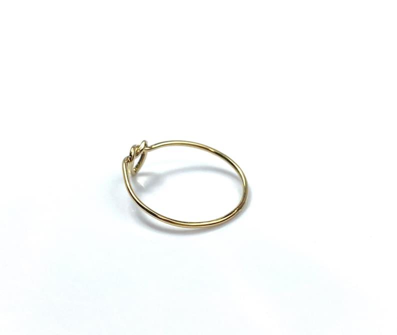 Sku#405K1HR7 Beautiful 14KGF single heart knot ring 14K gold filled