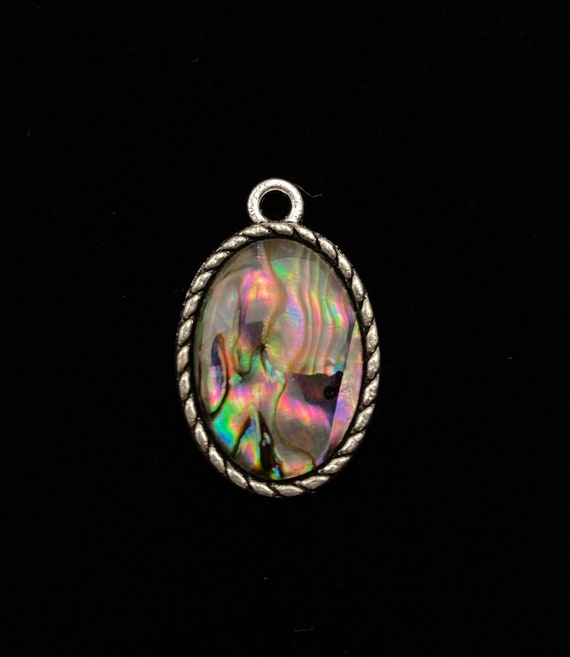 Oval abalone mother of pearl charm, SKU# M1037