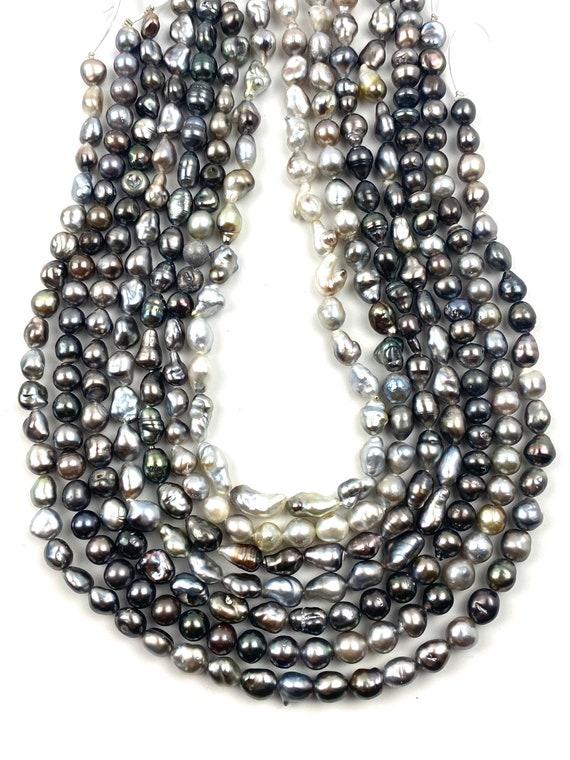 Stunning 100% natural Tahitian Keshi pearl strands, SKU#11187