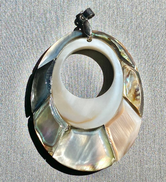 Stunning abalone mother of pearl pendant, SKU#M826