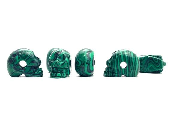 Skull Carved Stone Beads, Sku#M1216-14