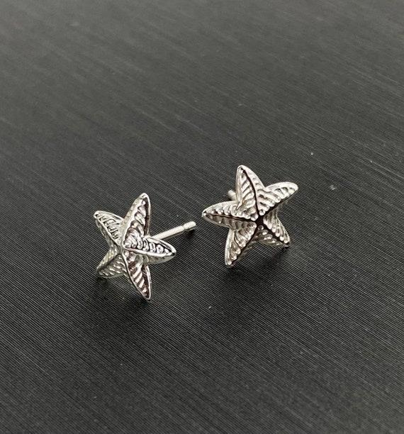 Starfish sterling silver earring studs, SKU#2193-5