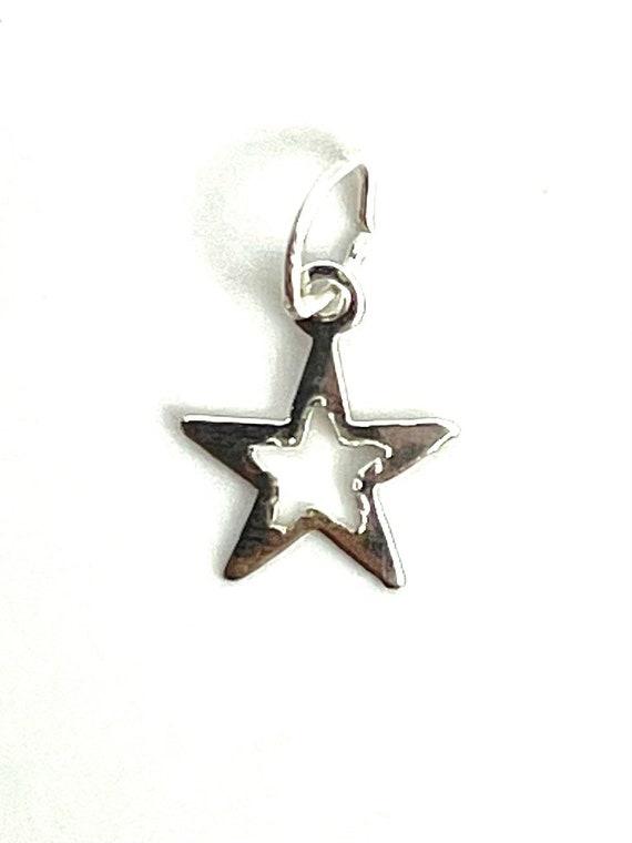 Sterling Silver Star Charm, Sku#1487 C
