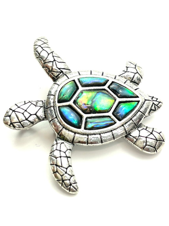 Abalone Mother of Pearl turtle pin
