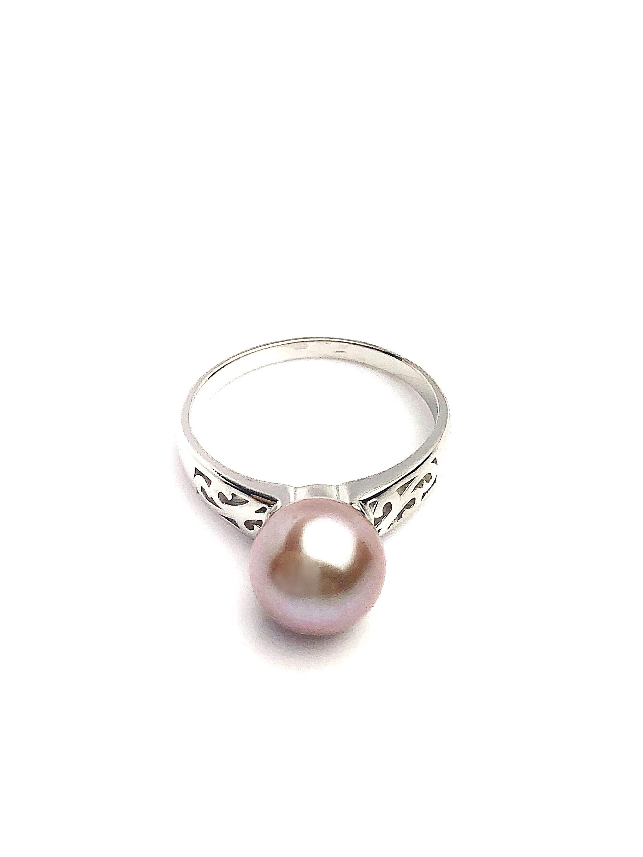 sterling silver pearl ring setting sr08 setting only no. Black Bedroom Furniture Sets. Home Design Ideas