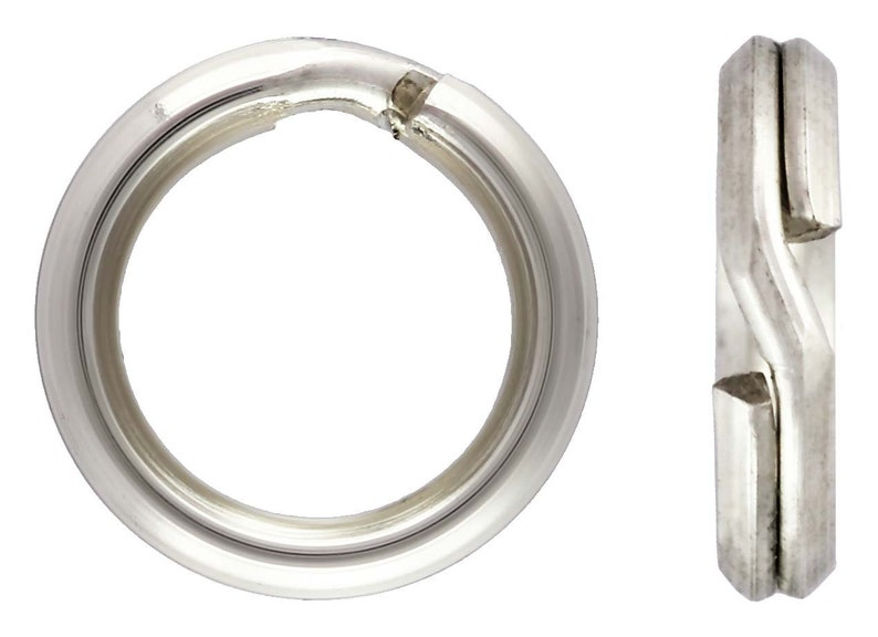 Made in USA #5002150A Sterling Silver 5.20mm Round Split Ring