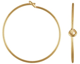 70x20.0mm Wire Beading Hoop, 14k gold filled. Made in USA. 4011804