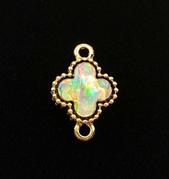 Stunning abalone mother of pearl charm, SKU# M1033
