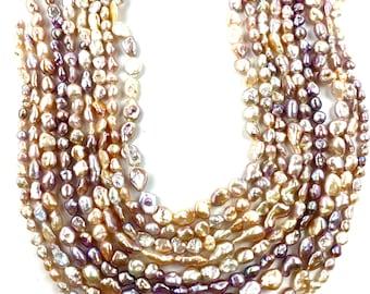 Stunning Keshi Edison pearl strands, SKU# 11182