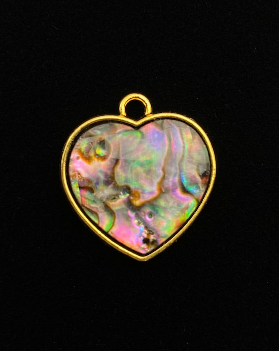 Heart abalone mother of pearl charm, SKU# M1035