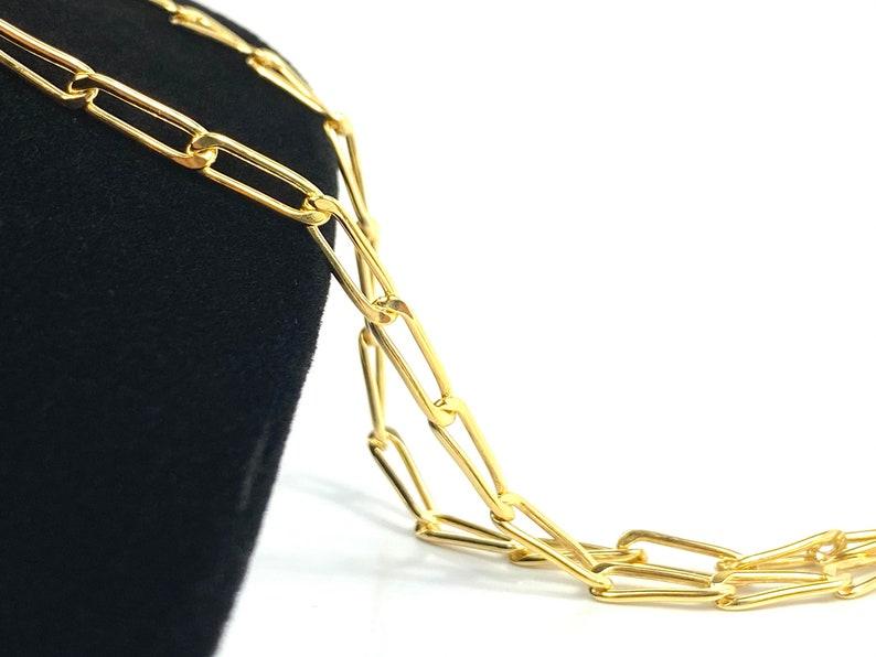 14K Gold Filled 14K Gold Fill 14K Gold Sku: SM299 14KGF 14KGF Elongated Cable Chain