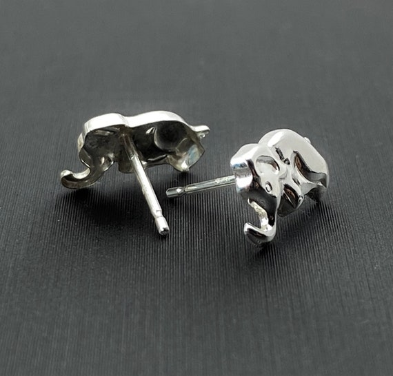 Sterling silver elephant earring studs, SKU# 2021-5