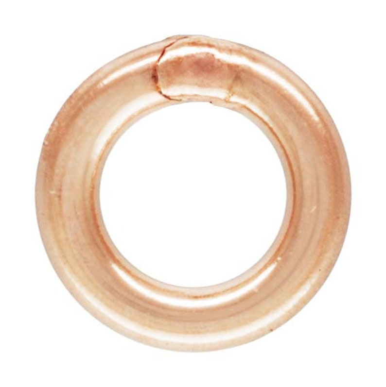 Made in USA #4804425C Jump Ring 22ga .025x.120 0.64x3.0mm 14k gold filled CL RGP
