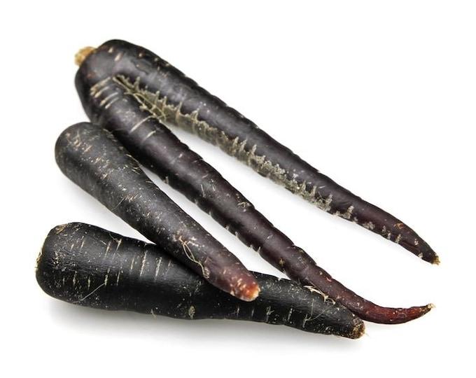 Carrot Seeds, Black Nebula, Non GMO, Heirloom, Annual, Root Vegetable, Deep Purple / Almost Black, RARE Seeds, Daucus carota, Crisp, Sweet