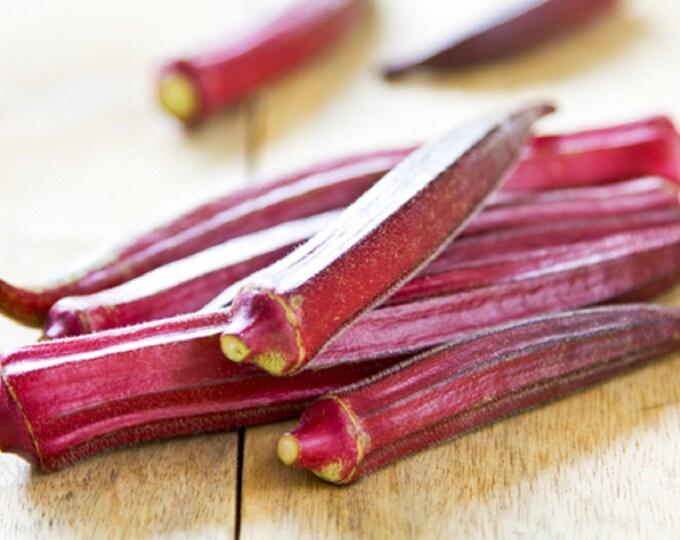Okra Red Burgundy Non GMO Garden Vegetable Seeds Sow No GMO® USA
