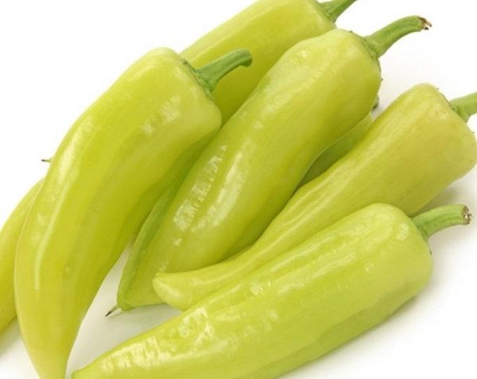Pepper Hungarian Hot Yellow Wax Heirloom Vegetable Seeds