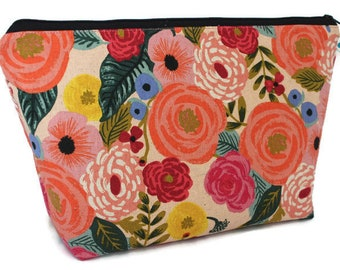 38566b4e853646 Juliet Rose - Extra Large Cosmetic Bag - Toiletry Bag - Travel Bag - Makeup  Bag - Wet Bag - Accessory Pouch - Rifle Paper Co
