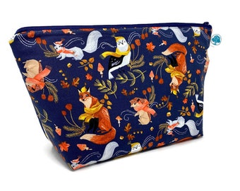 Autumn Woodland - Extra Large Cosmetic Bag - Toiletry Bag - Travel Bag - Makeup Bag - Wet Bag - Accessory Pouch