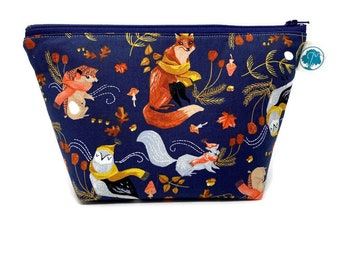 Autumn Woodland | Large Cosmetic Bag | Makeup Bag | Accessory Pouch | Toiletry Bag | Gadget Bag | Jewelry Pouch