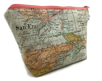Cosmetic Bag Makeup Bag Gadget Bag Expedition Map
