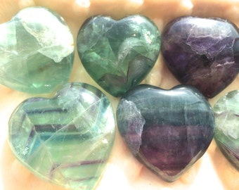 Fluorite Heart, Chakra, Crystal Grid, Reiki, Sacred Space, Pagan Altar, Great Gift for Valentines Day!