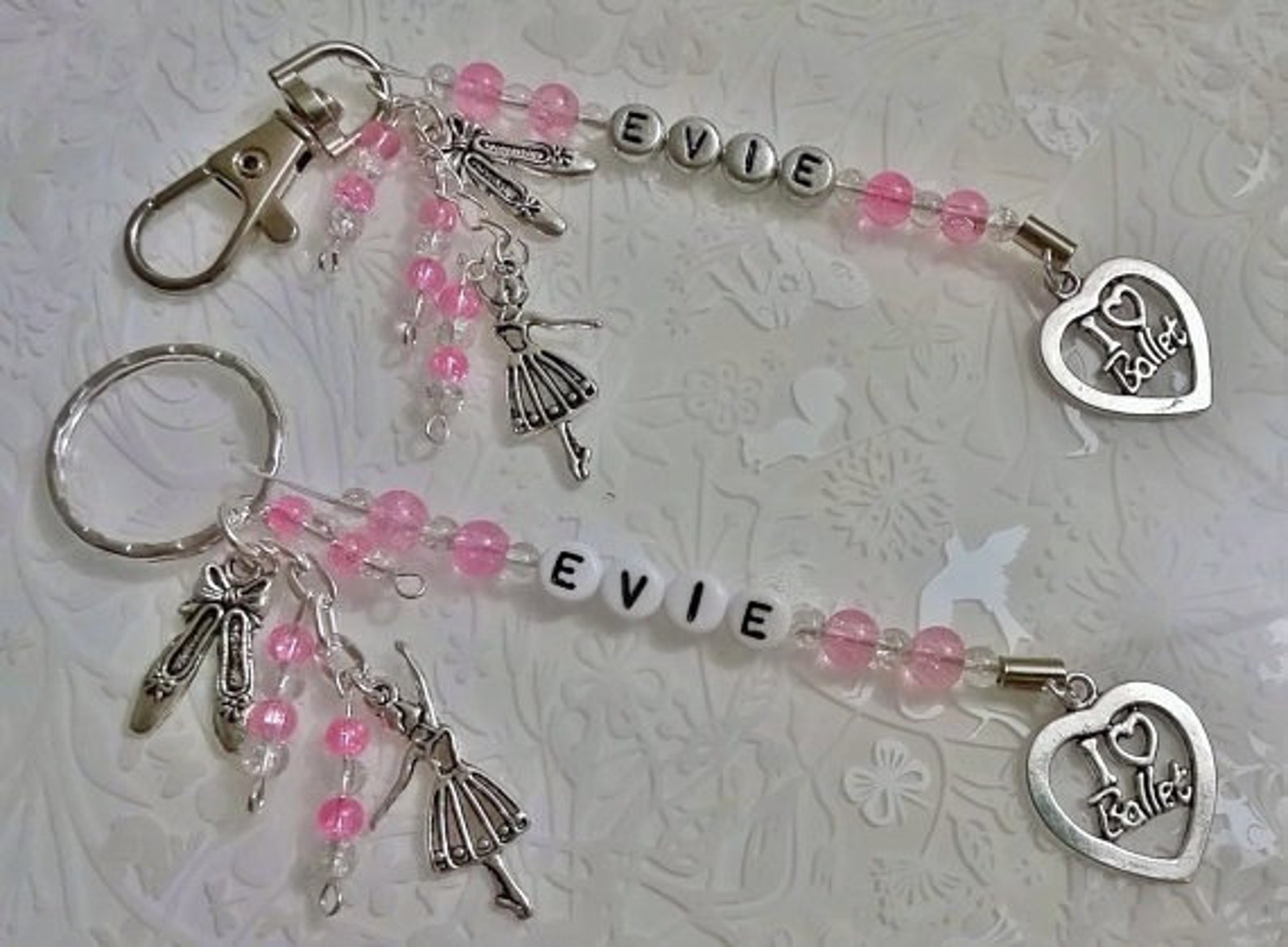ballet gifts~personalised ballet keyring~ballet shoes~ballet dancer