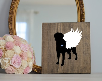 Chesapeake Bay Retriever Angel Wing Silhouette, Remembrance Sign, Dog Memorial, Loss of Dog