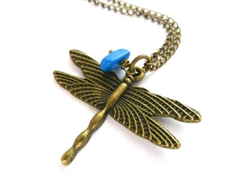 Dragonfly Necklace Dragonfly Pendant Necklace Dragonfly Necklace for Women In Memory Of Mom Memorial Jewelry Loss of Loved One Animal Spirit