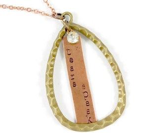 Tears Speak, Teardrop Pendant Necklace, Quote Necklace, Memorial Mothers Day Memorial, Mother Loss Gift, Unique Necklaces for Women