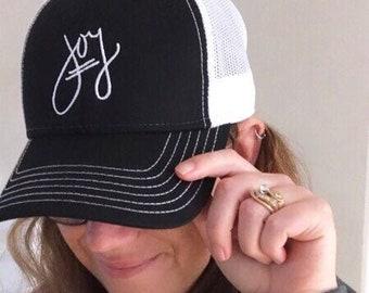 Trucker Cap, Mom Trucker Hat, Embroidered Trucker Hats for Women, Hats with Sayings, Happy Hats for Summer Hats Women, Choose Joy