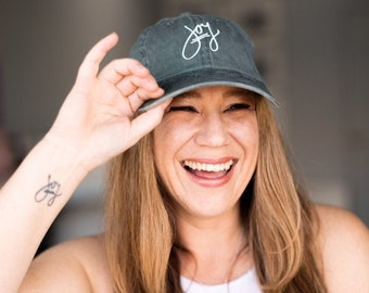 Joy Hat, Embroidered Hat, Baseball Hats Women, Summer Hats, Womens Hats, Dad Hat, Mom Hat, Word Hats with Sayings Joy Gifts Meaningful Gifts
