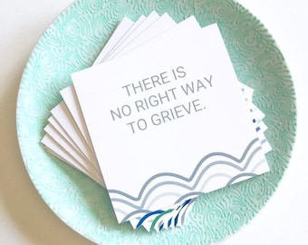 Death Cards, Thinking of You Gifts, Thinking of You Cards, Therapy Gifts, Therapy Cards for Healing Gifts for Women, Care Package for Friend