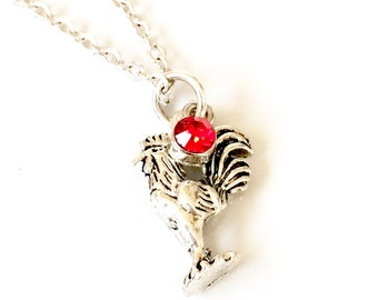 Chicken Necklace, Rooster Necklace, Hen Necklace, Farm Jewelry, Chicken Gifts Chickens, Chinese Zodiac, Chinese New Year of the Rooster