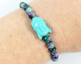 Meditation Bracelet, Peace Bracelet, Beaded Buddha Bracelet, Yoga Bead Bracelet, Spiritual Jewelry, Hippie Jewelry, Yoga Gifts for Women