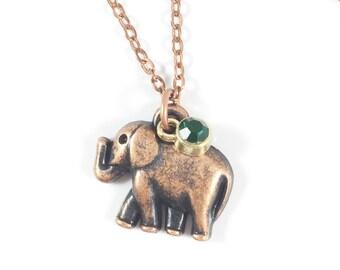 Elephant Necklace, Elephant Pendant Necklace, Animal Spirit Necklace, Spiritual Jewelry, Elephant Jewelry Elephant Gifts Best Friend Jewelry
