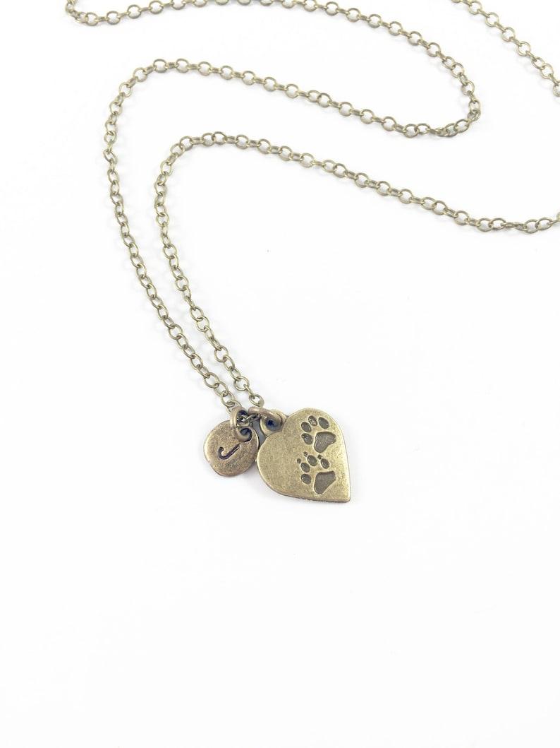 Pet Necklace Personalized Pet Necklace Memorial Pet Jewelry image 0