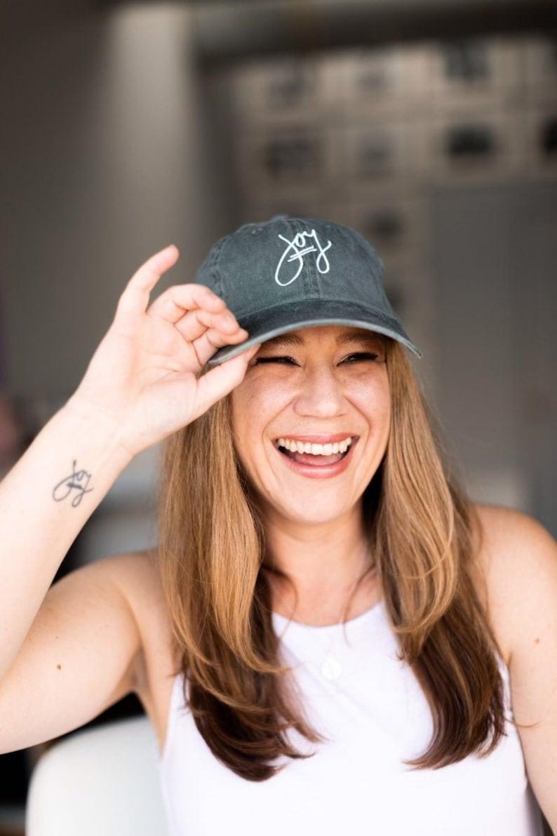 Joy Hat Embroidered Hat Baseball Hats Women Summer Hats image 0