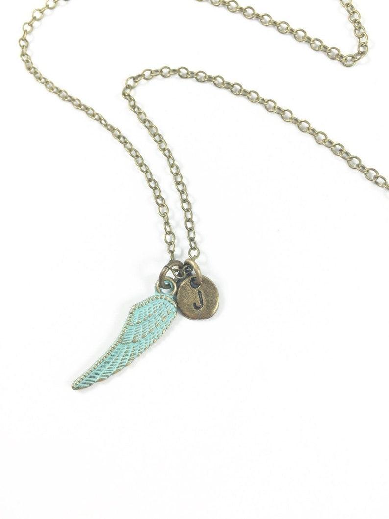 Angel Necklace Wing Necklace Angel Wing Necklace Memorial image 0