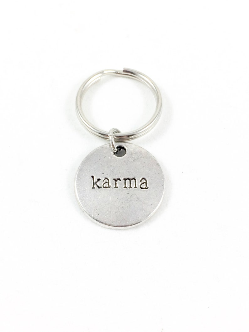 Karma Keychain, Spiritual Keychain, Hippie Keychain, Karma Gifts with  Meaning, Good Vibes Gifts, Good Luck Gifts Spiritual Gifts for Hippies