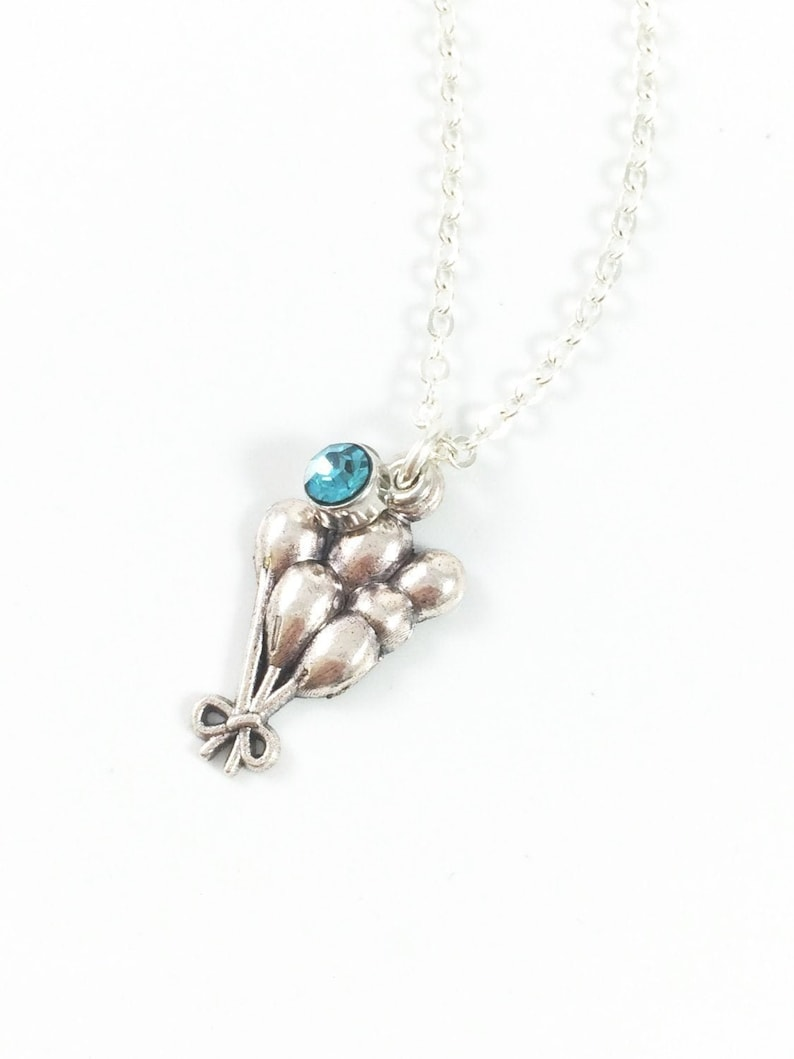 Balloon Necklace Remembrance Necklace Memorial Necklace image 0