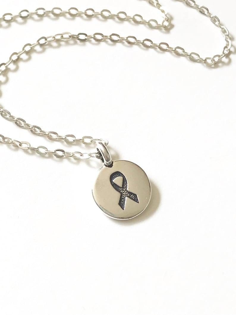Awareness Necklace Ribbon Necklace Cancer Necklace image 0