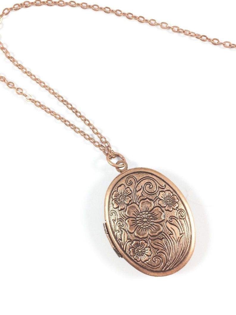 Locket Necklace Picture Locket Necklace Copper Necklace In image 0