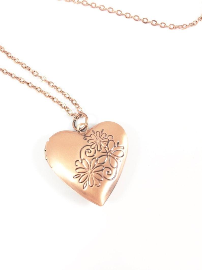 Locket Necklace Heart Locket Necklace Picture Locket image 0