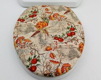 Terrific Fall Leaves Toilet Seat Cover Set Toilet Tank Lid Topper 2 Lamtechconsult Wood Chair Design Ideas Lamtechconsultcom