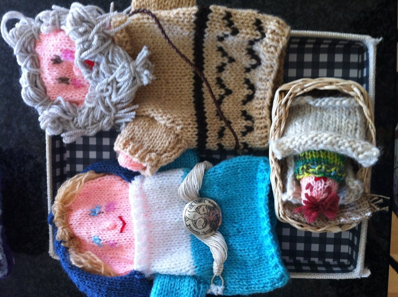 nativity ornaments puppet nativity handmade hand puppets nativity set puppets knitted nativiy set christmas nativity group