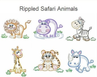 Vintage Baby Animals 3 Machine Embroidery Designs Instant
