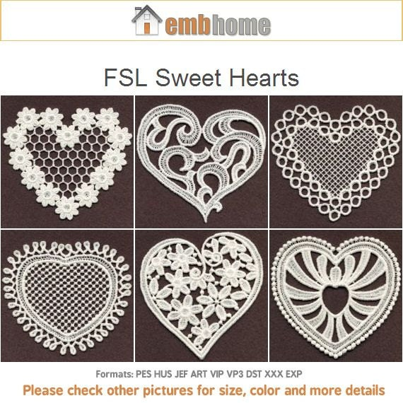 Fsl Sweet Hearts Free Standing Lace Valentine Love Ornament Etsy