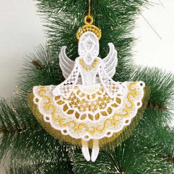 Christmas Angel machine embroidery design Christmas decoration Instant Download Christmas toys Machine embroidery Angel pattern design