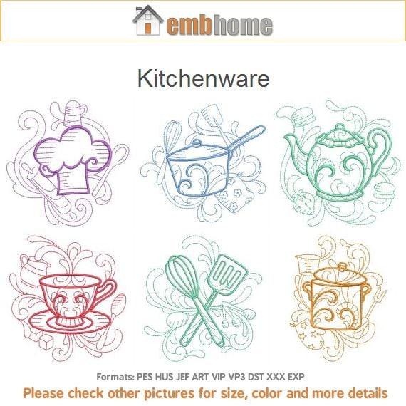Utensili da cucina macchina ricamo disegni Instant Download | Etsy